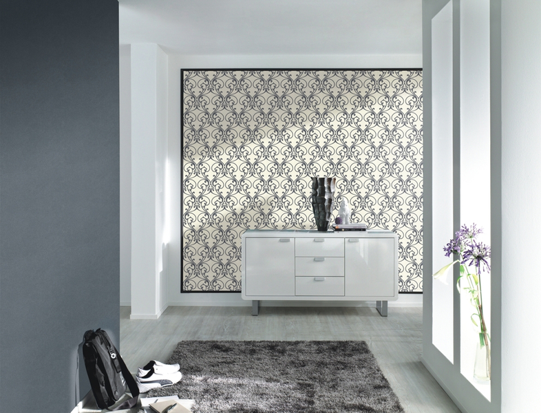 Tapeta cienna 404517 glamour 2014 rasch - Papel de pared blanco y negro ...