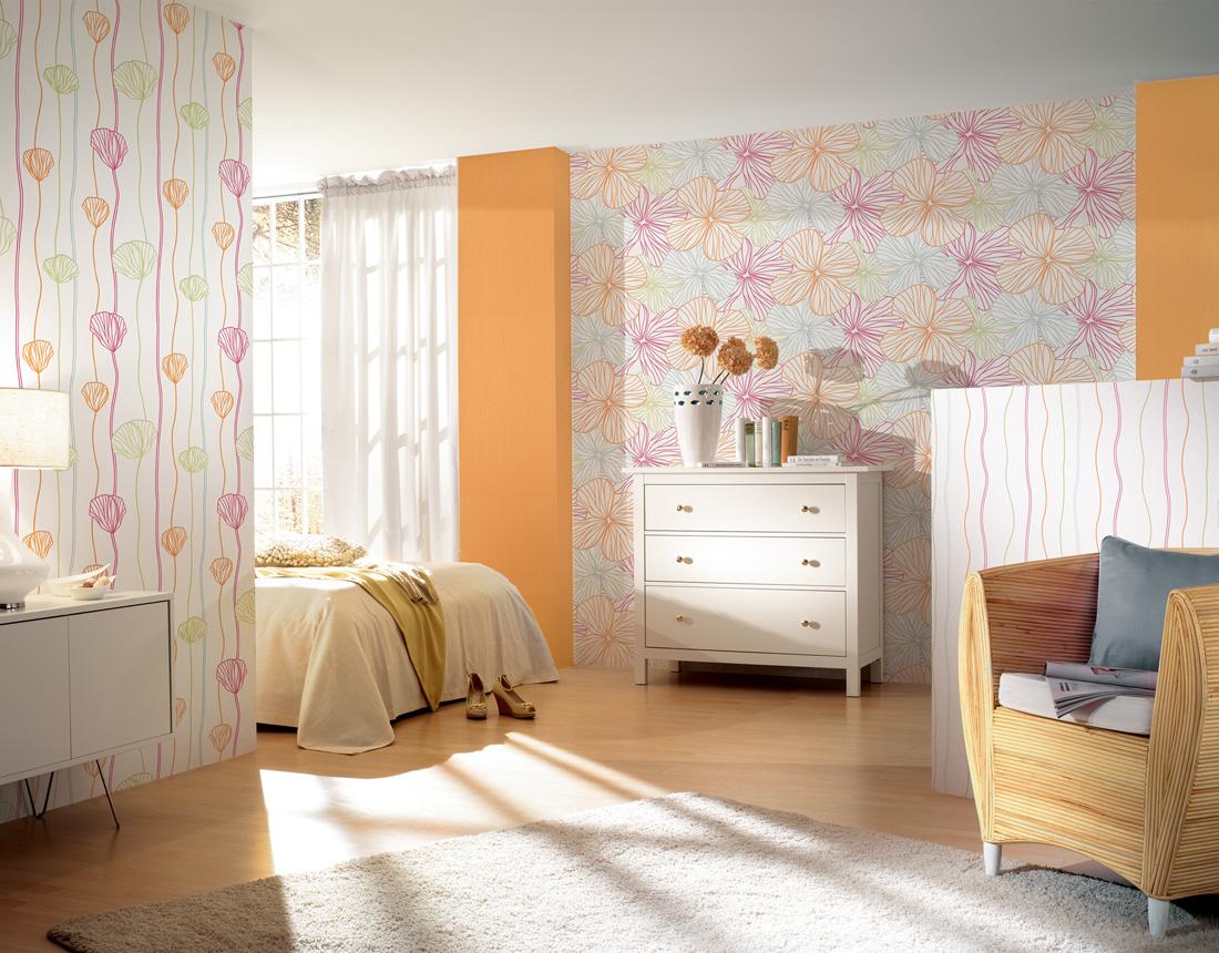 Innova Tapeten Sunny Side : Tapeta scienna w kwiaty 2160-14 Sunny Side AS Creation