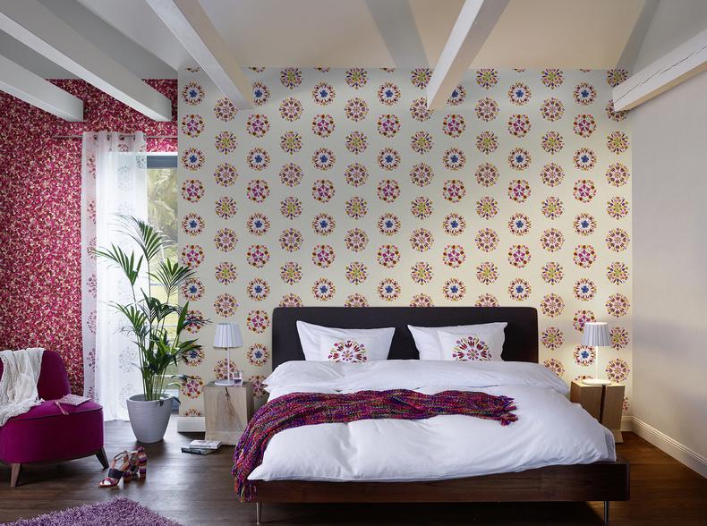tapeta cienna flamingi barbara becker 5 479706 rasch. Black Bedroom Furniture Sets. Home Design Ideas