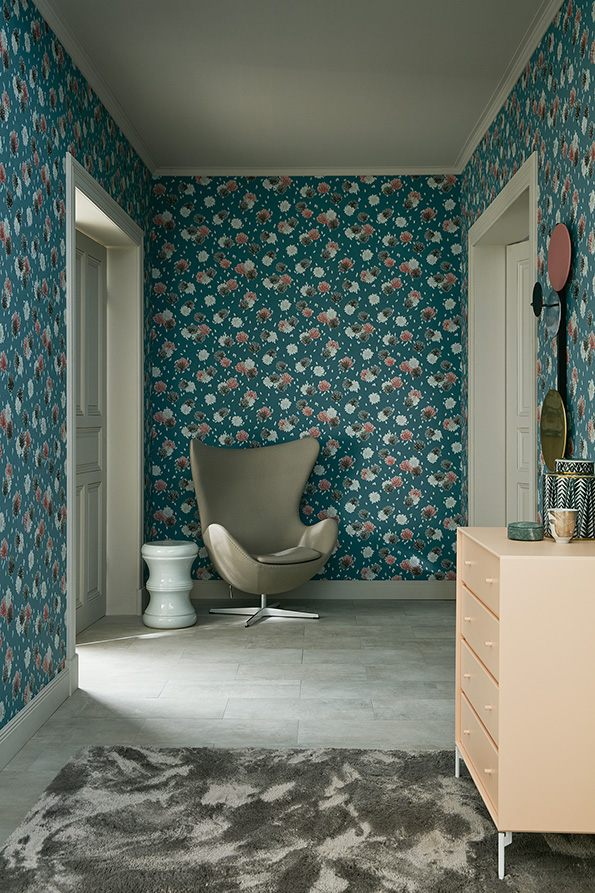 tapeta cienna w kwiaty schoner wohnen 8 30408 2 as creation. Black Bedroom Furniture Sets. Home Design Ideas