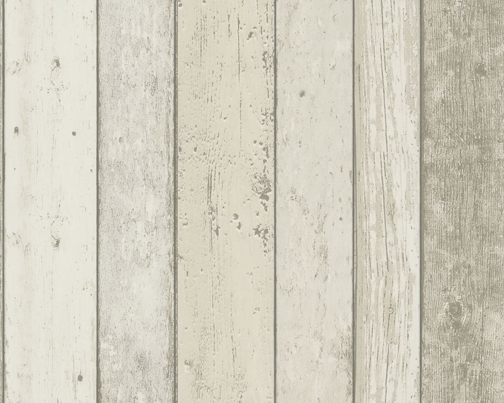 Weathered Wall Paneling : Tapeta ścienna drewno new england as creation