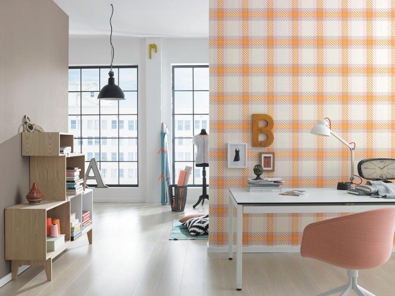 tapeta cienna kratka 721652 funky flair 2015 rasch. Black Bedroom Furniture Sets. Home Design Ideas