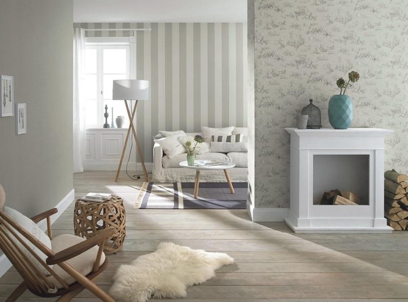 tapeta cienna w paski 450804 lazy sunday 2016 rasch. Black Bedroom Furniture Sets. Home Design Ideas