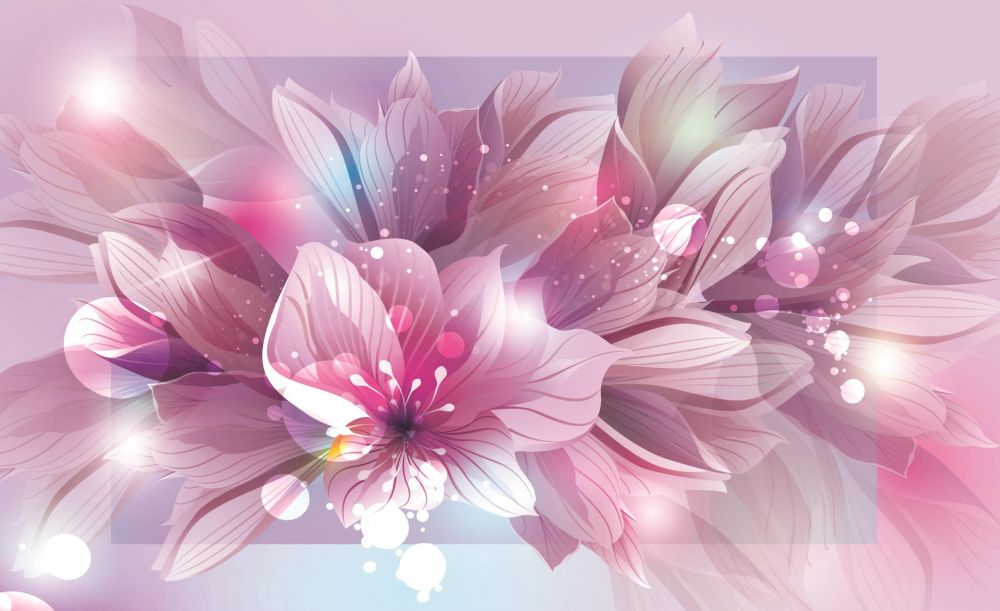 Fototapeta Fioletowe Kwiaty 762ve